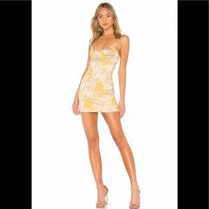 Chrissy Teigen xREVOLVE Tom Kha Dress GoldBlossom